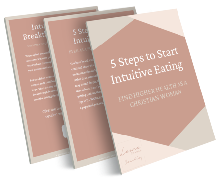 3D rendering of free guide 5 Steps to Start Intuitive Eating
